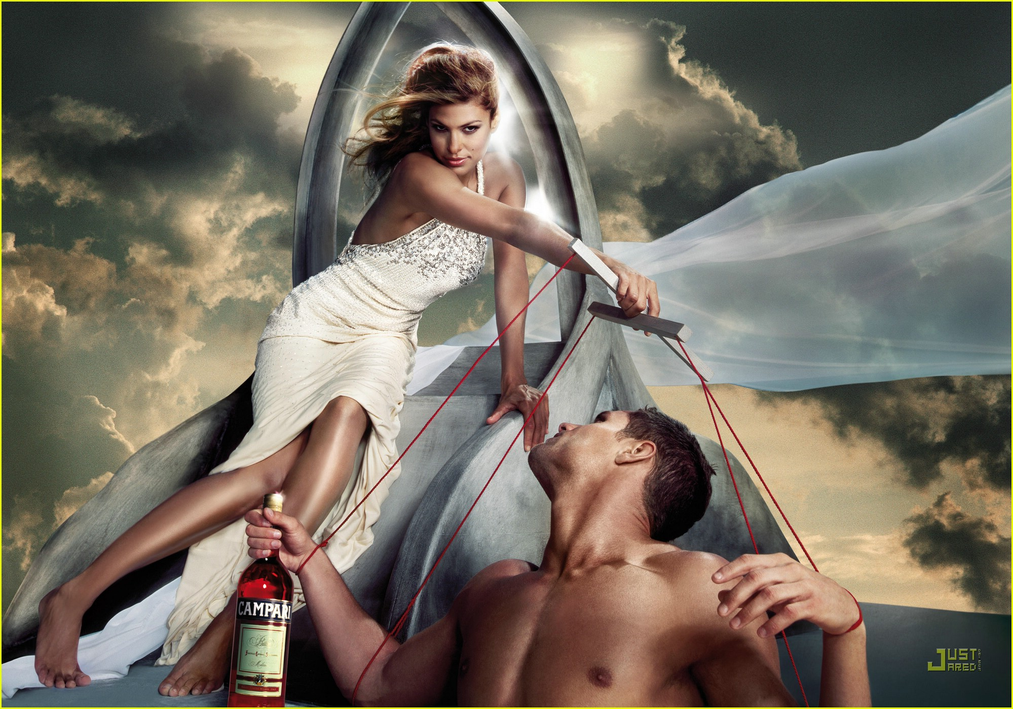 Eva Mendes Campari Calender Wallpaper